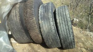 Used Heavy Truck Tires 11R22.5 assorted brands
