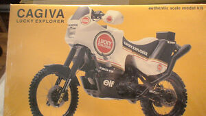 Motorcycle, CAGIVA, 1/9th scale by Protar,  mint in shrink wrap