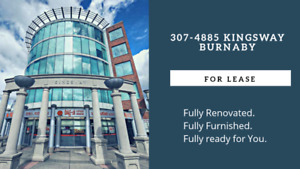 350sqft Fully Frunished 2 Private Office across Metrotown