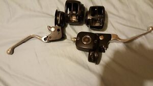 Harley Davidson front controls with master cylinder and covers