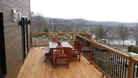 Patio terrasse deck de piscine cloture