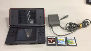 Nintendo DS Lite Console  includes 3 games