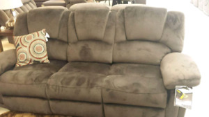 For sale: Brown/Suede double reclining Couch