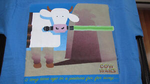 """""""Cow Wars"""" Shirt (Star Wars-Episode One) Adult Small-from 1999"""
