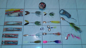 FISHING GEAR RODS REELS LURES LINES TACKLES