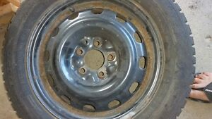16 inch snow tires on rims used one season London Ontario image 3