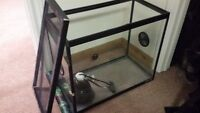 reptile terrarium/chameleon tank with vents & wfall w/ fogger
