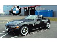 2003 BMW Z4 2.5 AUTO BLACK PETROL ROADSTER