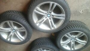 18inch oem bmw rims with brand new winters