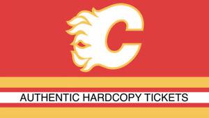 3 Calgary Flames vs Carolina Hurricanes -Oct 19 -Sec 217,Row 19
