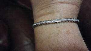 10k White Gold&Diamond Tennis Bracelet