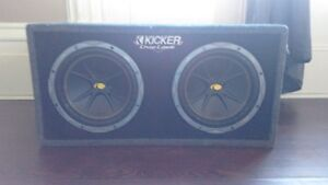 KICKER COMP SUBS IN A PORTED KICKER BOX 4 SALE OR TRADE
