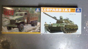Assorted Military Model Kits