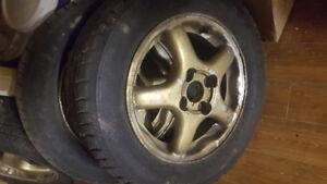 THREE rims for Honda/Acura with snow tires
