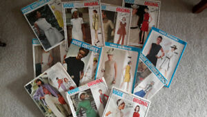 Collection of 12 Sewing / Dress Making Patterns Mostly Dresses.
