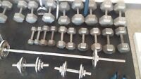 """Weights, Equipment """"DOMTAR ATHLETICS"""" full workout,Dumbbells etc"""