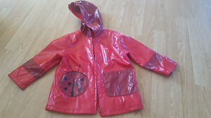 Lady Bug Raincoat Size 3