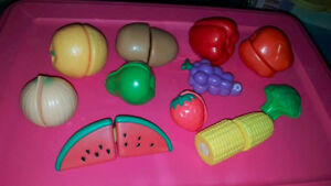 Plastic Playfood that velcros together.