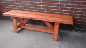 Farmhouse Bench - Sequoia Red colour