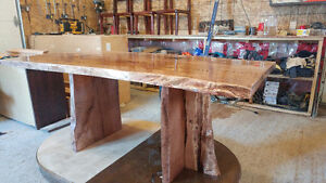 Beautiful hand crafted live edge harvest table