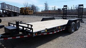 "Heavy Equipment trailer 83w""x20'long 14,000lbs AXLES"