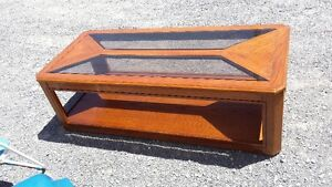 WOOD AND GLASS COFFEE TABLE  reduced