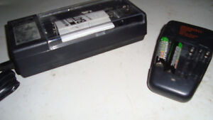 2 rechargeable battery chargers