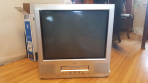 "JVC  20"" CRT TV with integrated VCR"