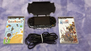 PSP and 2 games: Final Fantasy and Loco Roco 2
