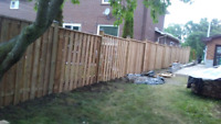 The fence installation