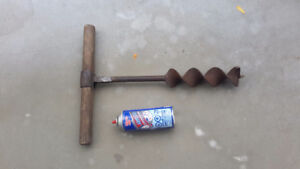 "Antique 19c Gilmore auger bit 2.5"" inches log house No. 10"