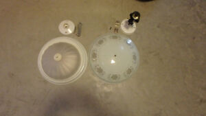 Ceiling lights, 2 styles, good condition