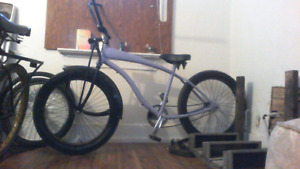 custom cruiser 26 fat tires and dual suspension forks