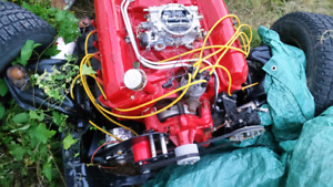 61 galaxie 6.4l 390 v8 rolling chassis and transmission