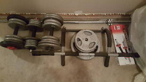 Workout weights + Iron gym