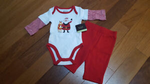 Brand New Christmas Outfit - Size 3 months, unisex