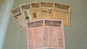 Lot of 7 Vintage Farmer's Advocate and Home Magazines 1901-1925