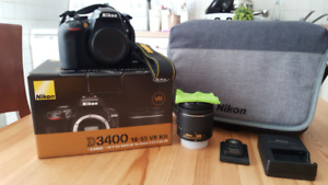 Like New Nikon D3400 DSLR Camera with all accessories