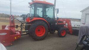 """Kioti DK50 HST with 80"""" Pronovost blower  """"Only 650 hours"""""""
