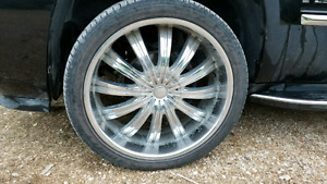 24 inch rims 6 bolt chev or Ford MUST SELL