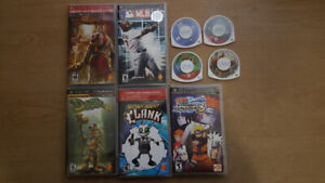PSP Games (Naruto, GodOfWar, RatchetnClank, Daxter and More)