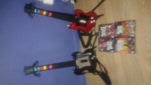 2 guitares et 4 jeux pour playstation 2