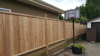 Cedar fencing Chain link fencing instalation and landscaping