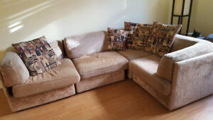 Good size sectional couch and small pull out couch