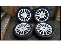 """VW classix 17"""" alloys wheels golf gt tdi jetta sport 5x112 mk5"""