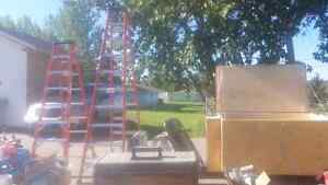 Ladders and Secured Toolbox for Sale