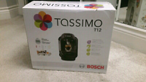 Brand new Tassimo T12 coffee maker. Save over 50%