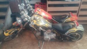 2 mini choppers 110 cc awesome little bikes