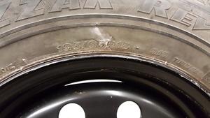 4 blizzak 195/65r15 on steel wheels