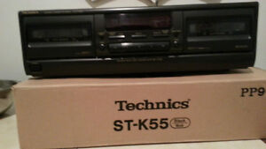 Vintage Technic Sound system,speakers,cassette double deck